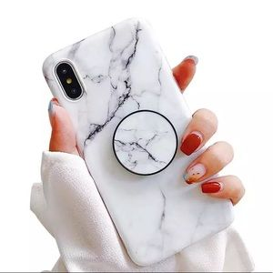 Accessories - NEW iPhone XR/7/8 Marble Popsocket Case